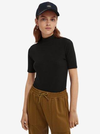 Černé dámské tričko se stojáčkem Scotch & Soda