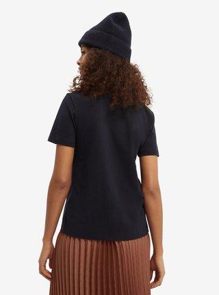 Černé dámské tričko s potiskem Scotch & Soda