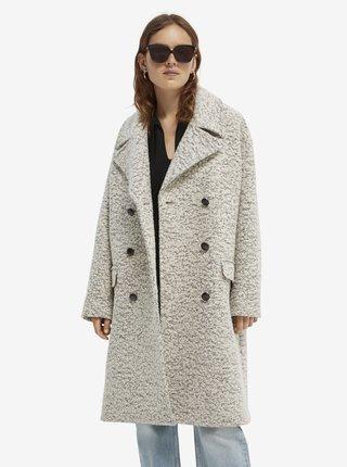 Světle šedý dámský kabát s příměsí vlny Scotch & Soda