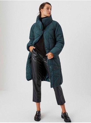 Kabáty pre ženy Moodo - petrolejová