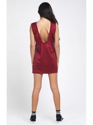 Vínové dámské šaty Dress Sports Satin SikSilk