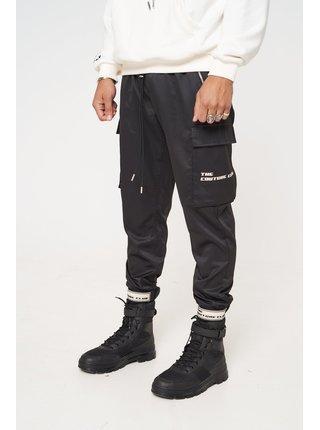 Černé pánské kalhoty PANT CARGO DETAIL BADGE RUBBER