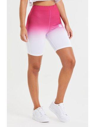 Bílo-růžové dámské kraťasy SHORT CYCLE FADE
