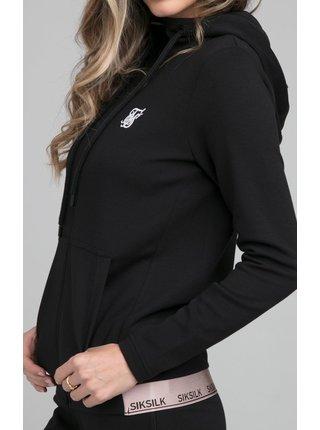 Černá dámská mikina s kapucí TOP TRACK ROSEATE