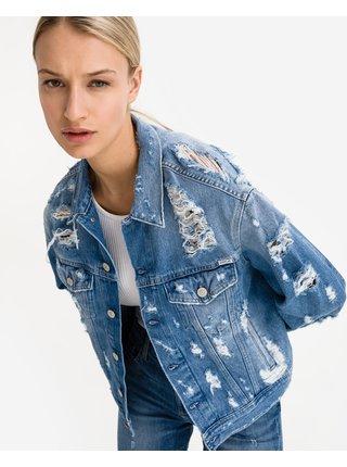 Rifľové bundy pre ženy Replay - modrá