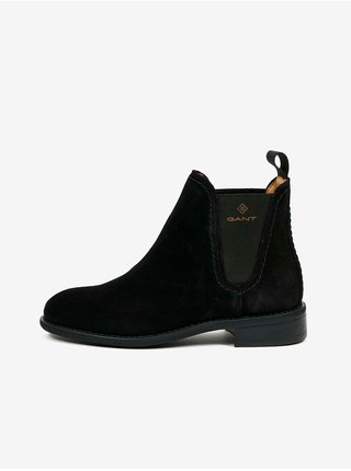 Černé dámské semišové kotníkové boty GANT Ainsley