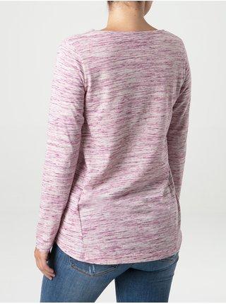 Světle růžové dámské žíhané tričko LOAP Beruna