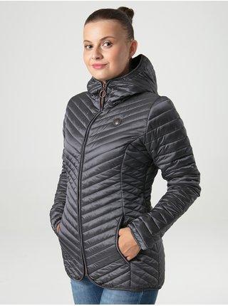 Tmavě šedá dámská prošívaná lehká bunda s kapucí LOAP Ixanda