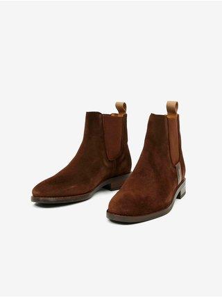Hnědé dámské semišové kotníkové boty GANT Fayy