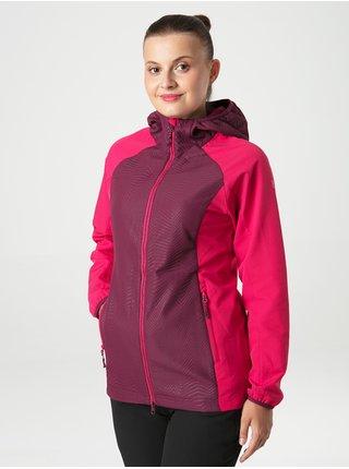 Tmavě růžová dámská softshellová bunda s kapucí LOAP Uriella