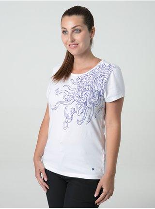 Bílé dámské tričko s motivem LOAP Abblina