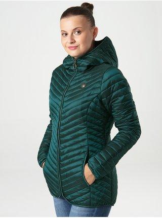 Petrolejová dámská prošívaná lehká bunda s kapucí LOAP Ixanda