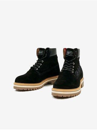 Černé pánské semišové kotníkové boty GANT Palmont