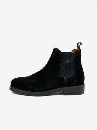 Černé pánské semišové kotníkové boty GANT Brookly