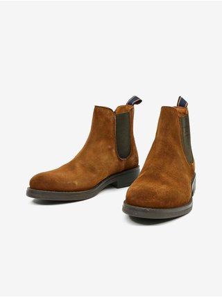Hnědé pánské semišové kotníkové boty GANT Brookly