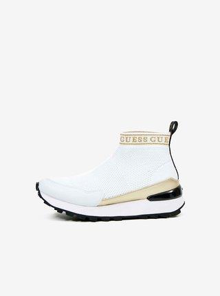 Biele ponožkové tenisky Guess