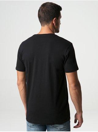Černé pánské tričko s potiskem LOAP Beeps