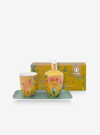 Žlutá dárková sada do koupelny PiP studio Petites Fleurs