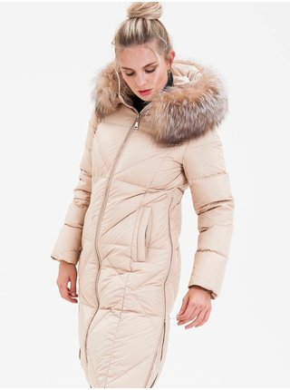 Kabáty pre ženy KARA - krémová
