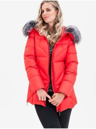 Zimné bundy pre ženy KARA - červená