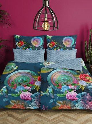 Modré obojstranné flanelové obliečky na jednolôžko Home Hip Chauchou