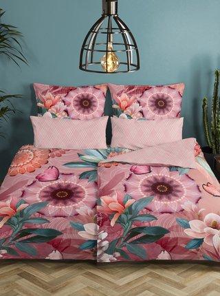 Ružové obojstranné flanelové obliečky na jednolôžko Home Hip Tlingit