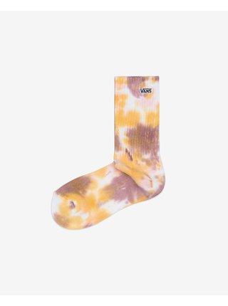 Žluto-růžové dámské batikované ponožky VANS Tie Dye