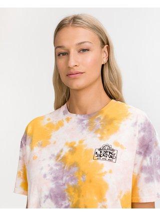 Žluto-růžové dámské batikované triko VANS Mascy