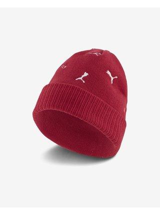 Bielo-červená dámska čiapka s prímesou vlny Puma High top Cuff Trend