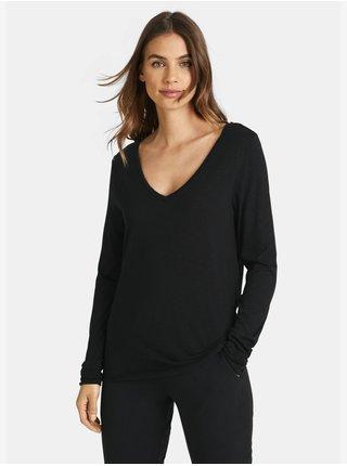 Tričká s dlhým rukávom pre ženy JUVIA - čierna