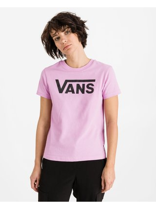 Tričká s krátkym rukávom pre ženy VANS - ružová