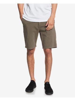 Nohavice a kraťasy pre mužov Quiksilver - hnedá