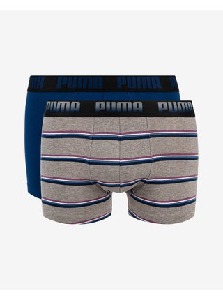 Boxerky pre mužov Puma - modrá, sivá