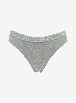Nohavičky pre ženy Emporio Armani - sivá