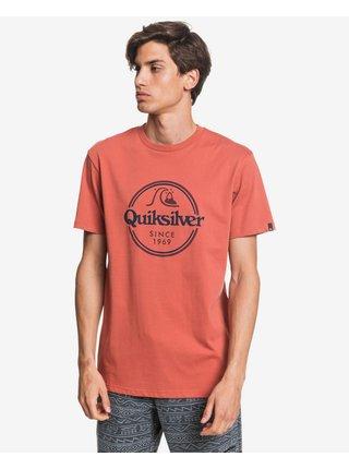 Tričká s krátkym rukávom pre mužov Quiksilver - červená