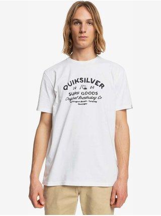 Tričká s krátkym rukávom pre mužov Quiksilver - biela
