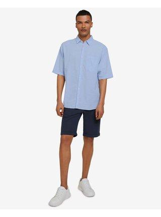 Košele s krátkym rukávom pre mužov Tom Tailor Denim - modrá