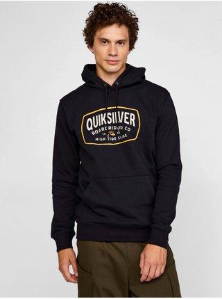 Mikiny s kapucou pre mužov Quiksilver - čierna