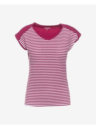 Tričká s krátkym rukávom pre ženy SAM 73 - ružová