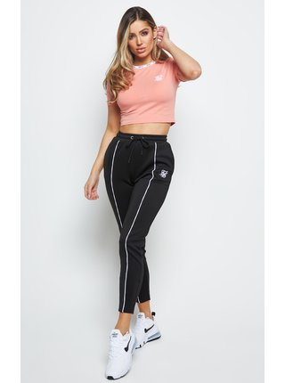 Růžové dámské crop top tričkoTEE CROP DUALITY