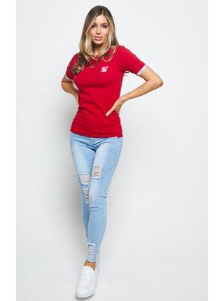 Červené dámské tričko TEE RINGER DUALITY