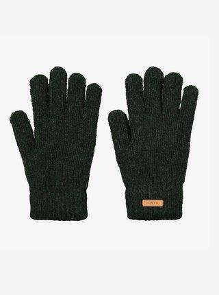 Tmavě zelené dámské rukavice BARTS