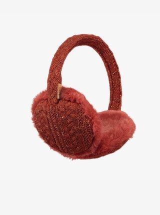 Červené dámské klapky na uši s umělým kožíškem BARTS