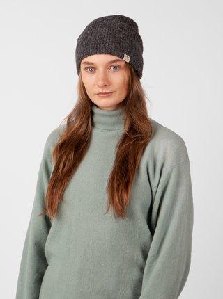 Tmavě šedá dámská žebrovaná čepice s příměsí vlny z alpaky BARTS