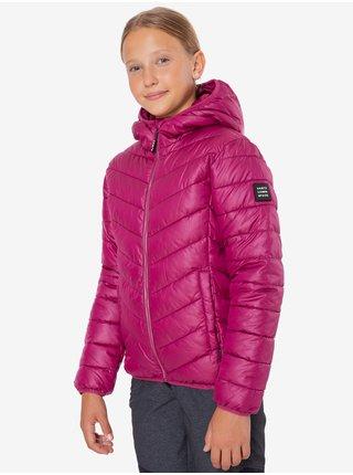 Tmavě růžová holčičí prošívaná zimní bunda s kapucí SAM 73 Hermiona
