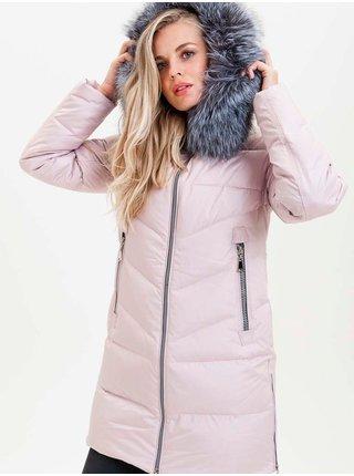 Zimné bundy pre ženy KARA - svetloružová
