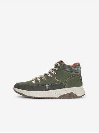 Hnědo-zelené pánské kotníkové boty SAM 73 Carl