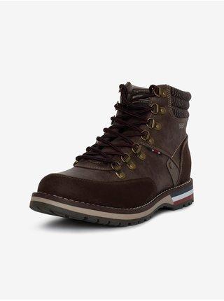 Tmavě hnědé pánské kotníkové zimní boty SAM 73 Bert
