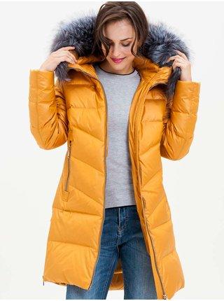 Kabáty pre ženy KARA - žltá