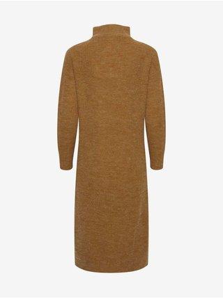 Šaty na denné nosenie pre ženy ICHI - hnedá